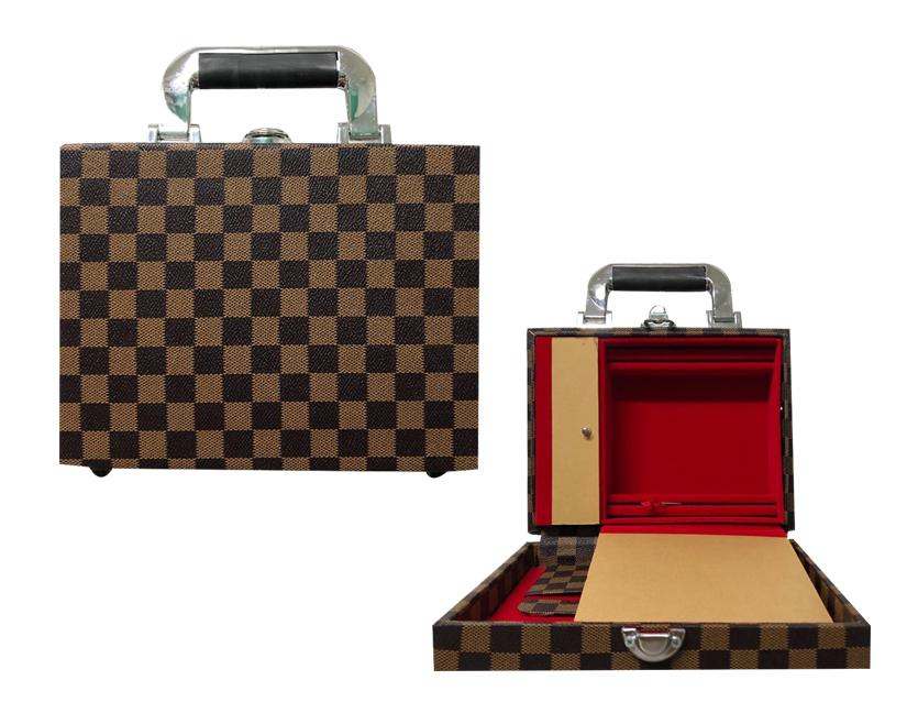 24 Capacity Tari Case With Fiber Glass (lv Checkered Brown) By Jkd.
