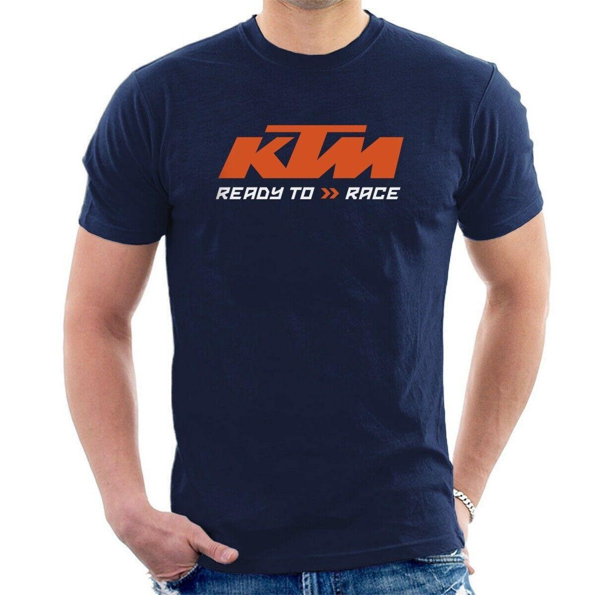 FASHION MENS KTM Racing BikeRide Motocross Motorcycle Black Mens Tee T-Shirt NEW