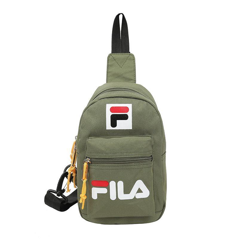 54ed1f0f18 Fila Contrast chest bag new tide women's bag European and American fashion Messenger  bag casual wild