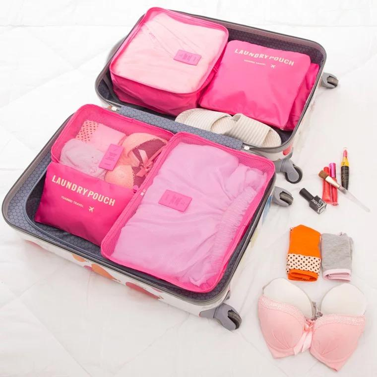 Beach Taco 6 in 1 Travel Laundry secret pouch Clothes Luggage Organizer Set