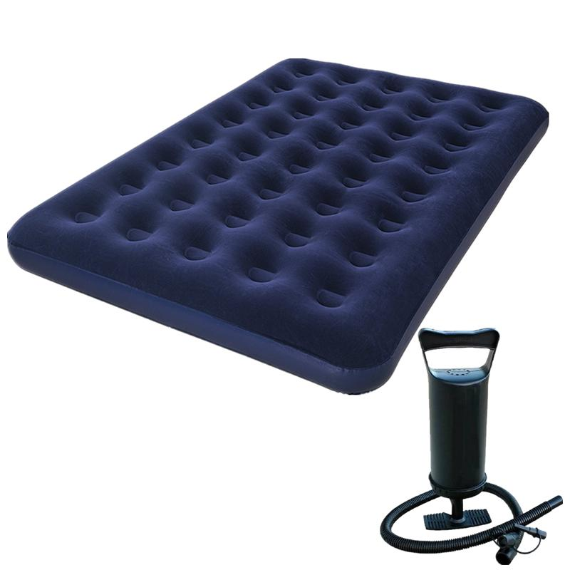 f8f0919a572a1 Bestway Inflatable Double Person Air Bed (Blue) with free Manual Hand Air  Pump
