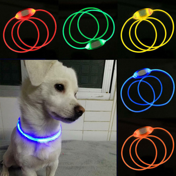 2sql USB Safety Dog Collar Rechargeable LED Flashing Waterproof Up Pet Light