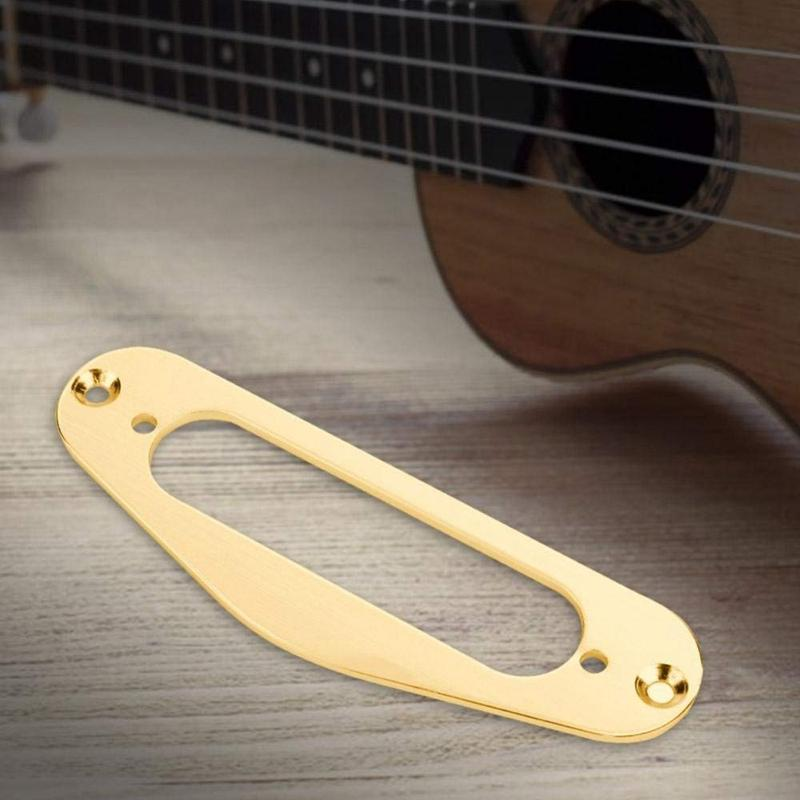 Gold Pickup Ring,2 Pcs Guitar Pickup Frame Mounting Ring Single Coil Metal Flat Humbucker Pickup Ring for TL Style Electric Guitars