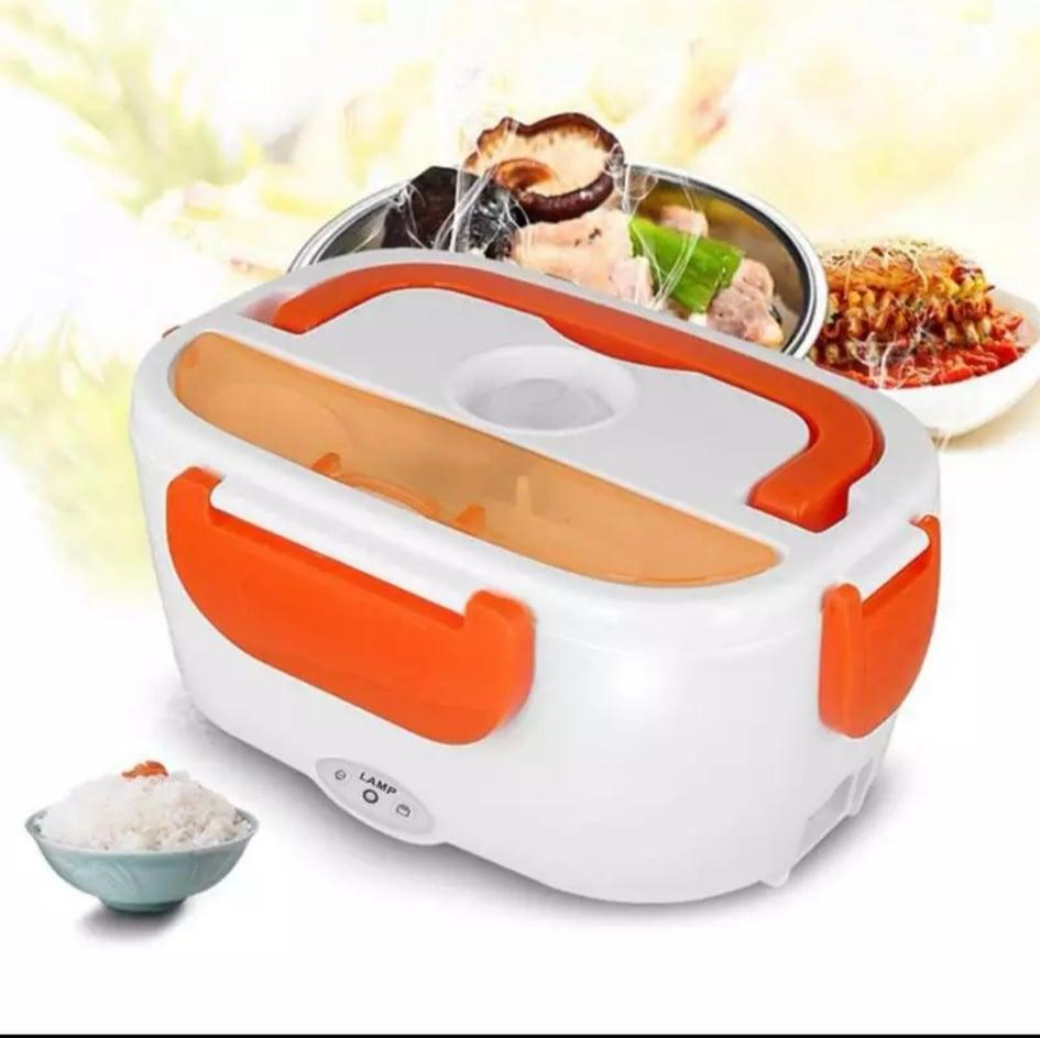 b04d15ea4baf Multi-functional Portable Electric Heating Lunch Box Food Heater Rice  Container for Home Office Car Lunch Box with Spoon