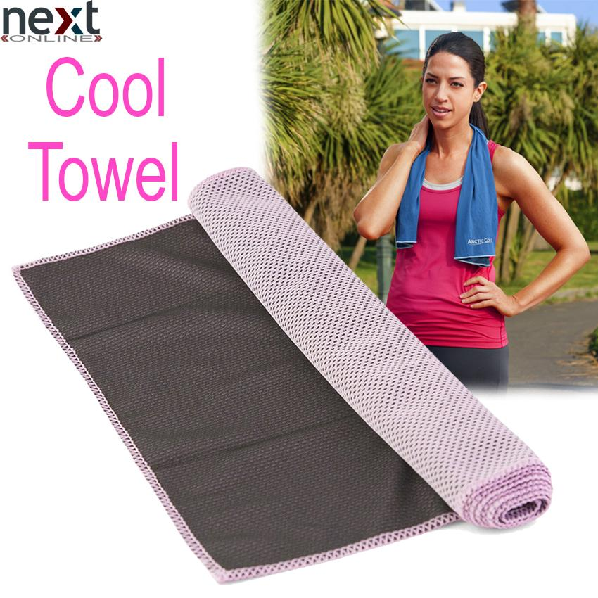 """Cooling Towel 40/""""x12/"""" Snap Cooling Towel for Sports Workout Fitness Gym Yoga"""