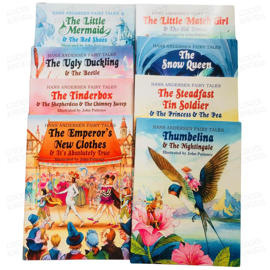 Hans Andersen Fairy Tales Childrens Book Set Of 8 By Luxxe Angels.