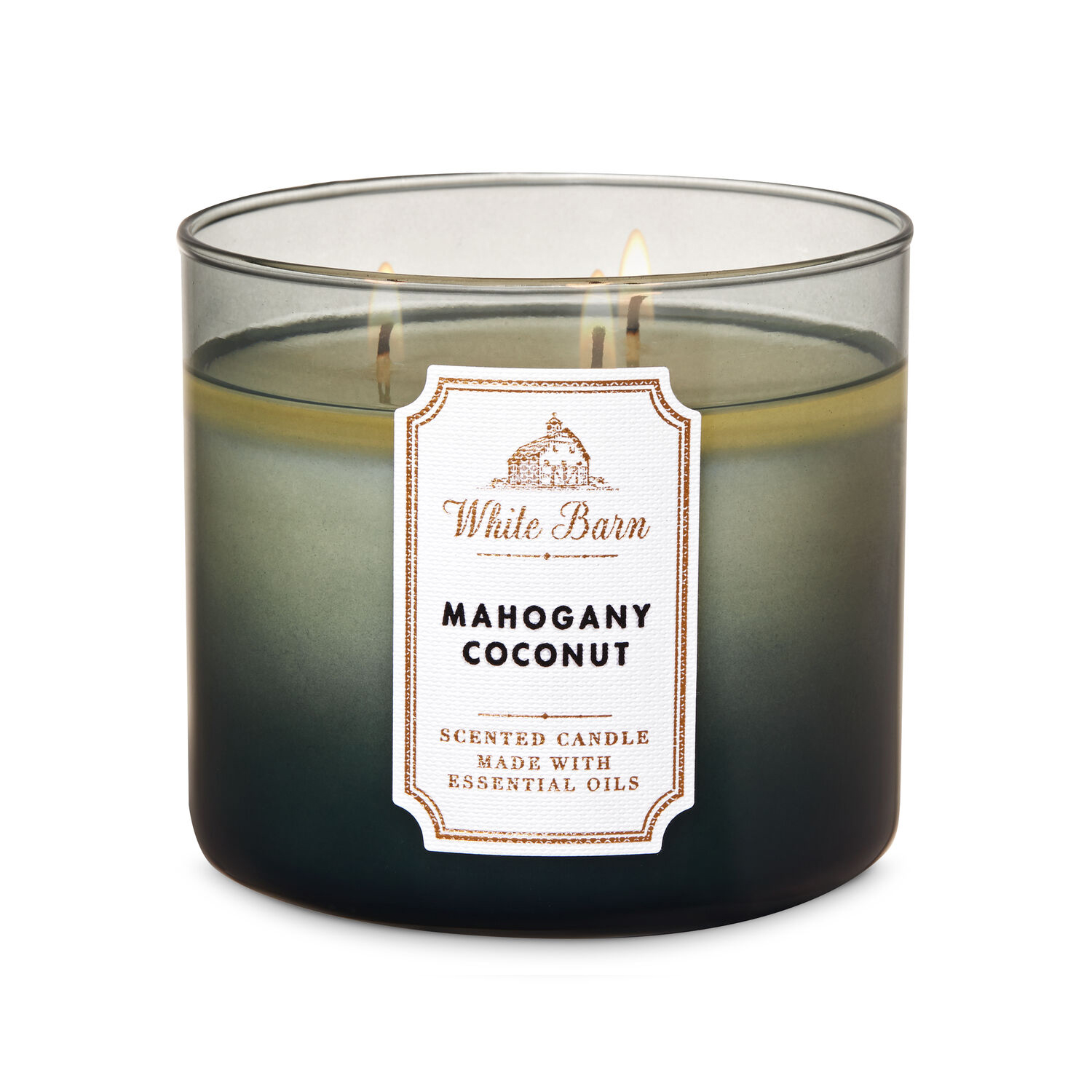 1 Bath /& Body Works MAHOGANY COCONUT Large 3-Wick Scented Glass Candle 14.5oz