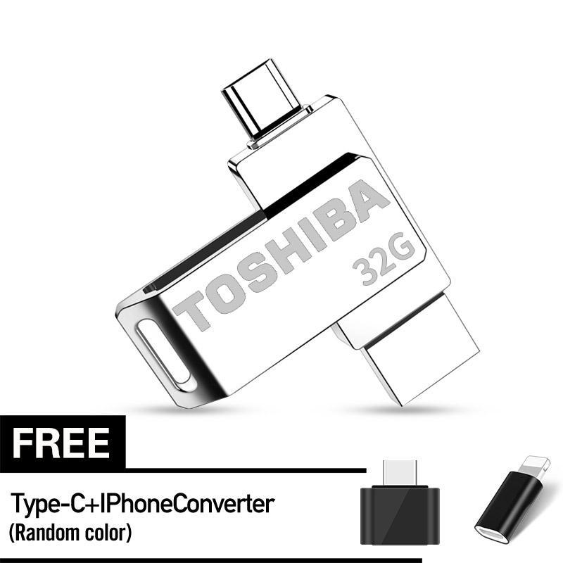 TOSHIBA 32GB OTG USB Flash Drive Smartphone Pen Drive Memory Stick U Disk for Android PC