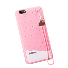 Fabitoo Cute ice cream silicone back cover case For Vivo Y33 With lanyard -Blue ColorPHP599