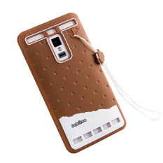 Fabitoo Cute ice cream silicone back cover case For VIVO XPlay 3S .