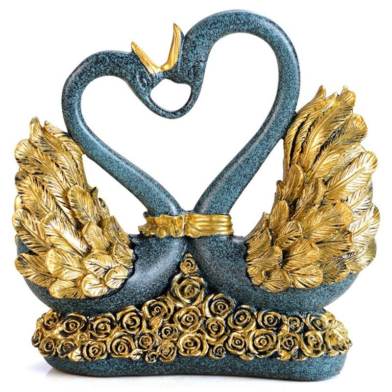 Swan Lovers European Style Living Room Decoration Home Furnishing Swan Jewelry Wedding Gifts Room Decor Modern Crafts Gifts