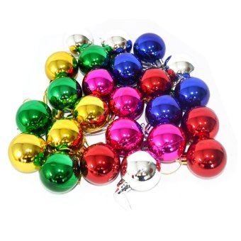 Fantastic Home Decor Christmas Ball 24 pcs. (Multicolor)