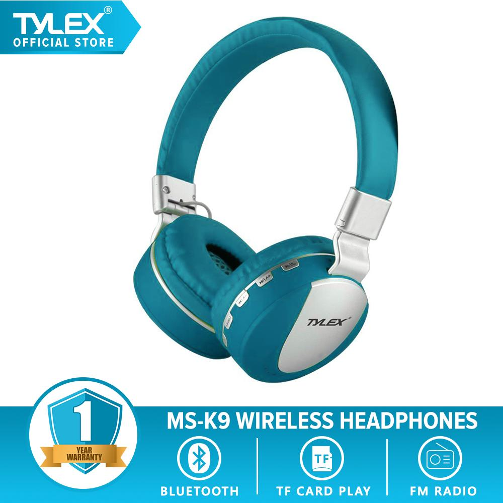 TYLEX MS-K9 Wireless 4 2 Stereo Portable Bluetooth Hi-Fi On-Ear Headphones  w/ TF Card Slot,FM & Built-in Mic