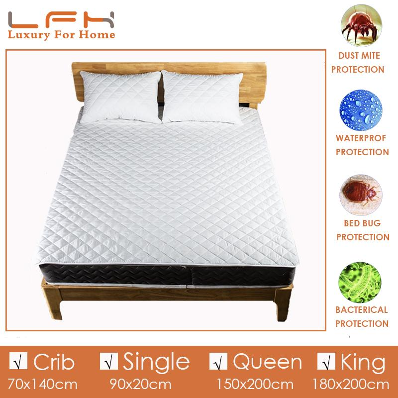 1 x WATERPROOF PROTECTIVE KING SIZE MATTRESS COVER PROTECTOR Wetting/_