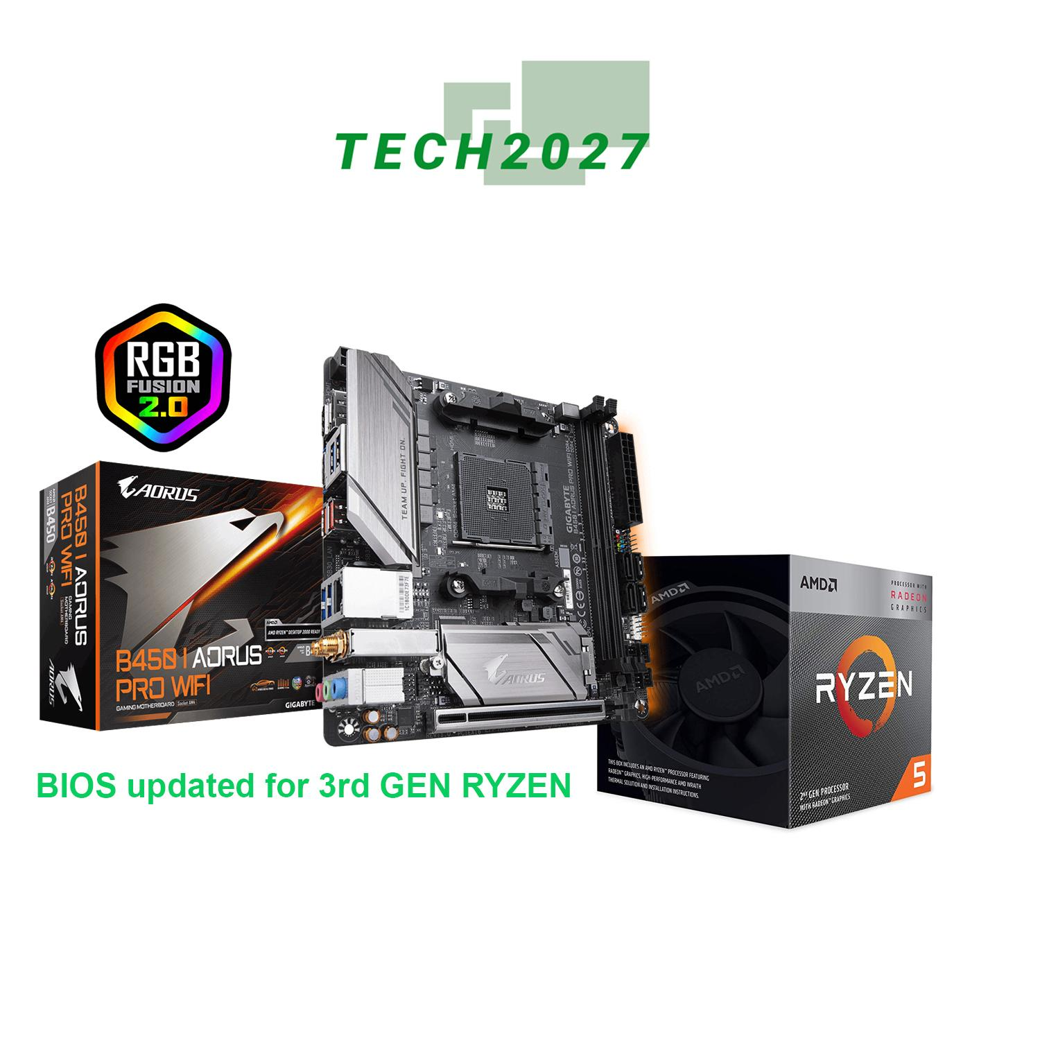 AMD RYZEN 5 3400G 4-Core 3 7 GHz bundle with GIGABYTE B450 I AORUS PRO WIFI  motherboard Mini-ITX