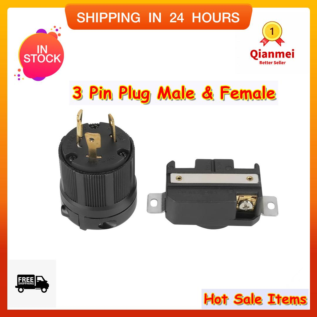 Electrical Equipment For Sale Electricals Prices Brands Review Twist Lock Receptacle Wiring Diagram On Ge Circuit Breaker Panel Box Qianmei Nema L6 30p 30r 30a 250v 3 Pin Plug