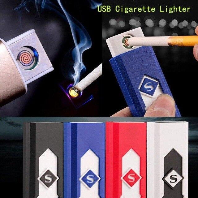 USB Rechargeable Flameless Collectible Lighter Cigarette (Random Color)