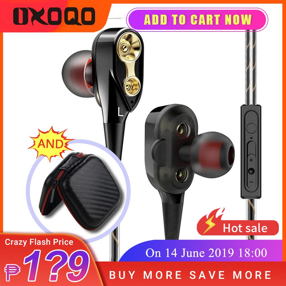 90d90dbac81 OXOQO Headphones,in-ear Earbuds With Microphone,HIFi Stereo Explosive Bass  Headsets