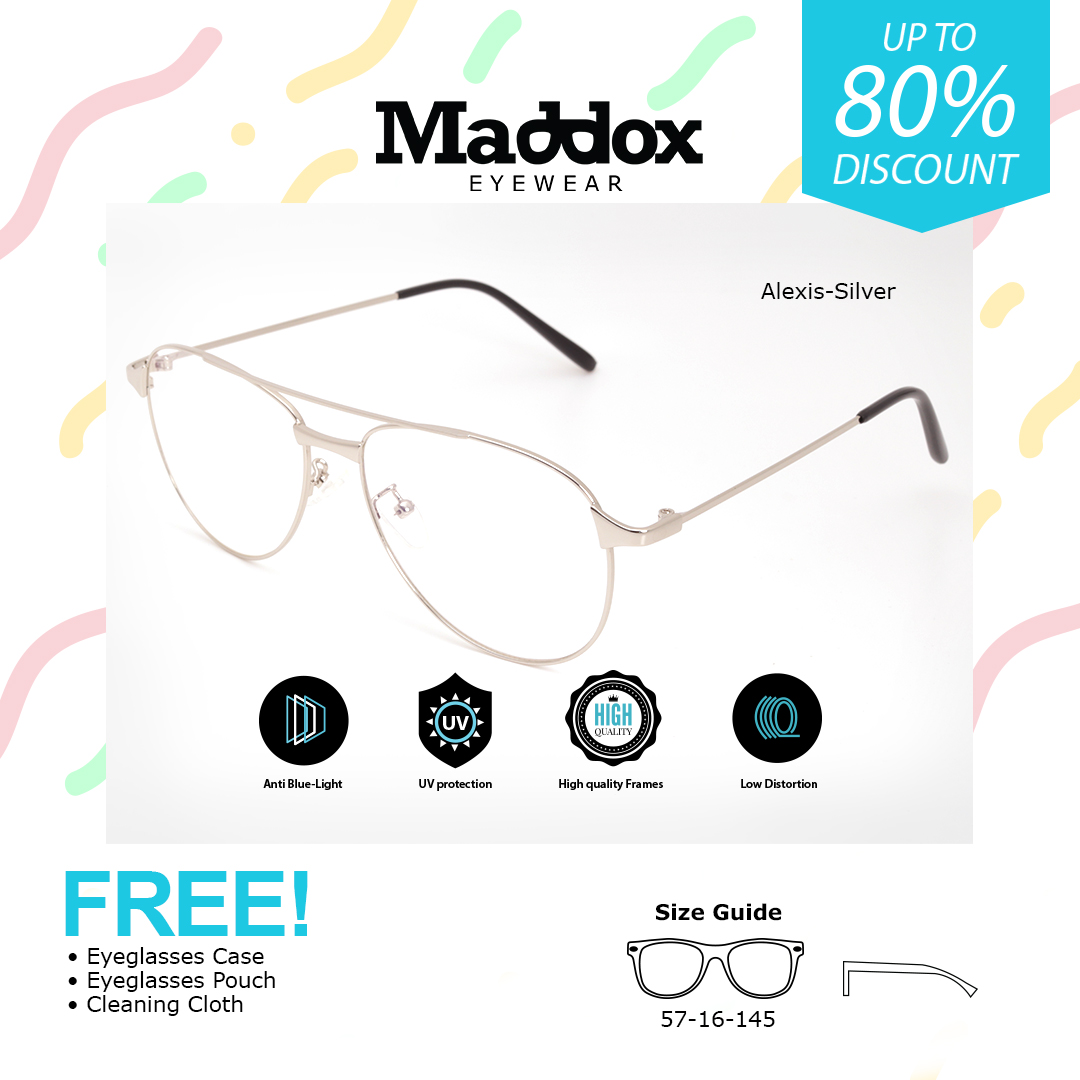 Alexis Silver alexis / silver / computer glasses / anti radiation blue lens computer  replaceable for prescription lenses eyewear /eyeglasses with replaceable  lens /