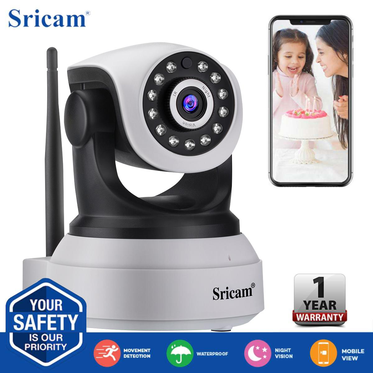 Sricam SP017 1080P HD IP Camera Wireless IR Night Vision Camera NVR P2P  Motion Detection 355 bca10c2619