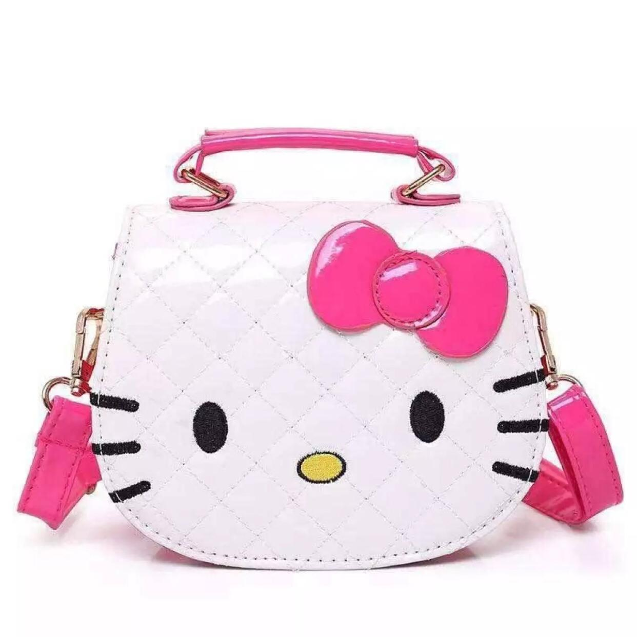 Hello Kitty mini Sling Bag Leather Quilted Women Kids Handbag