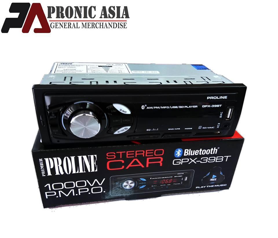 Proline GPX-39BT Car Stereo w/ AM/FM, Bluetooth, USB,