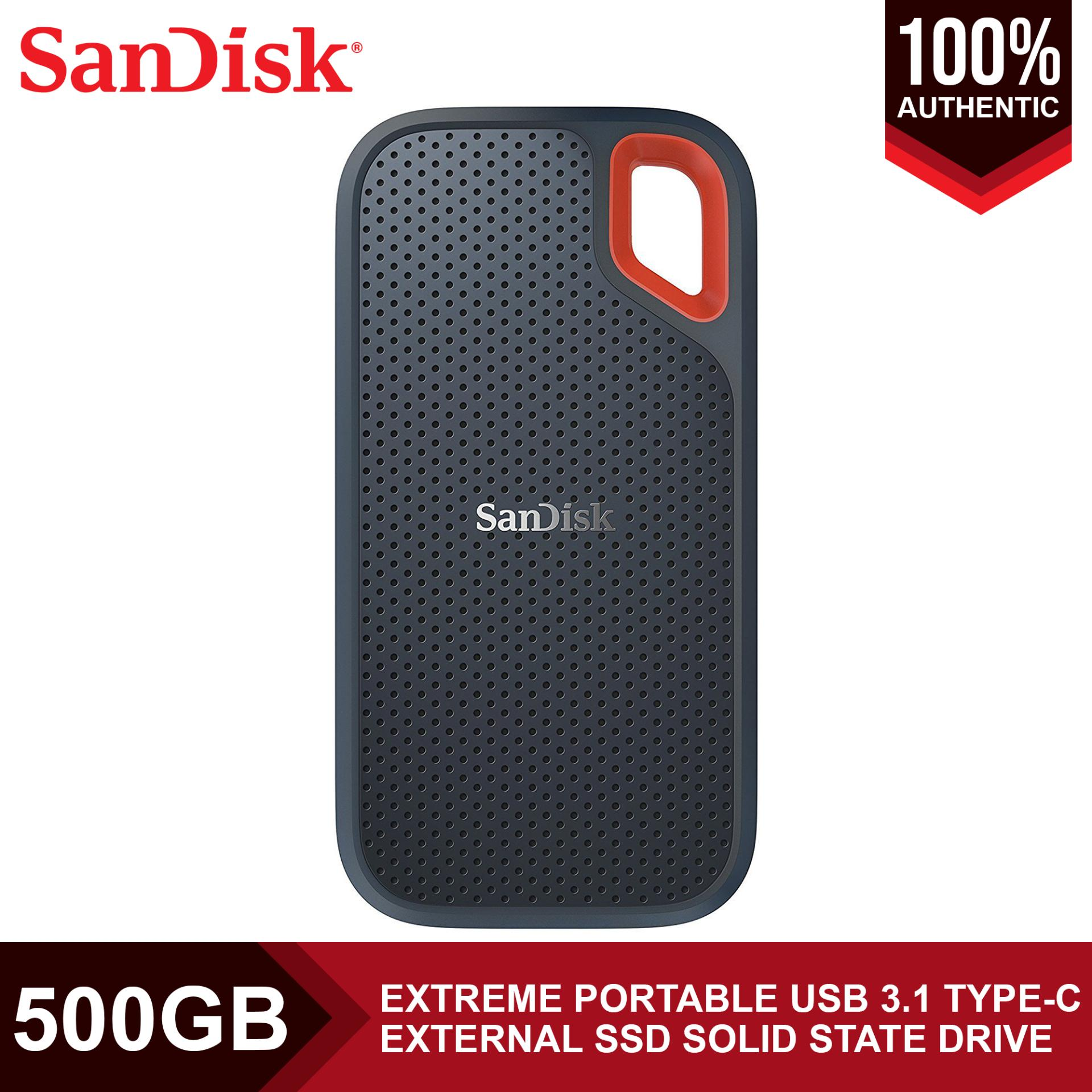 SDSSDE60-500G-G25 SanDisk Extreme Portable SSD External Solid State Drive 500GB