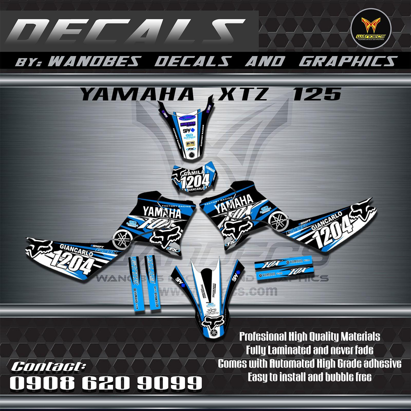 Yamaha xtz decals