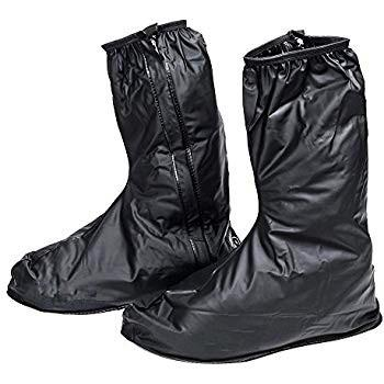 Fashion Rain Shoe Cover With Zipper (color Black) Men By New Star.