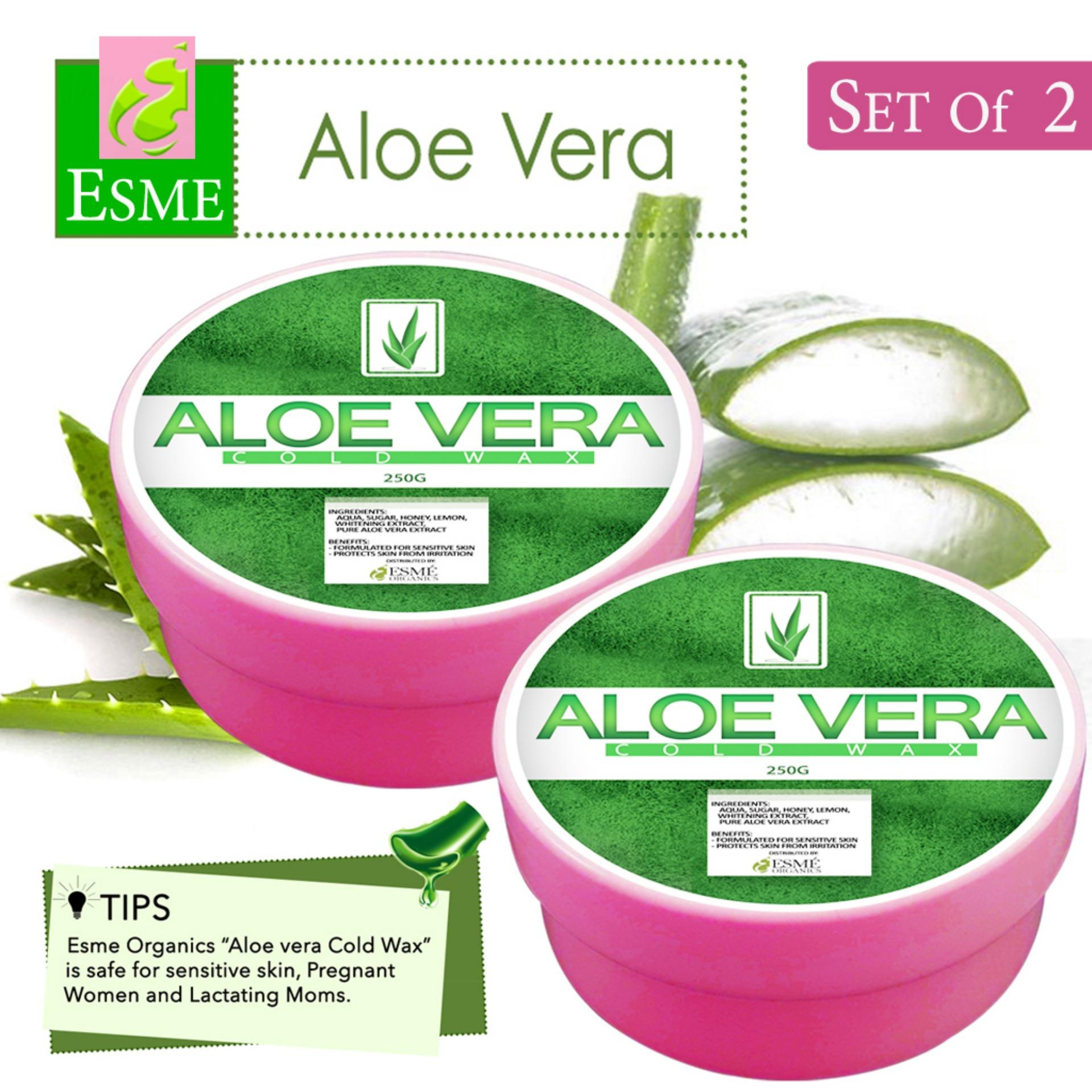 Esme Organic Cold Wax Hair Removal 250g (set Of 2) Aloe Vera By Best Store Best Buys.
