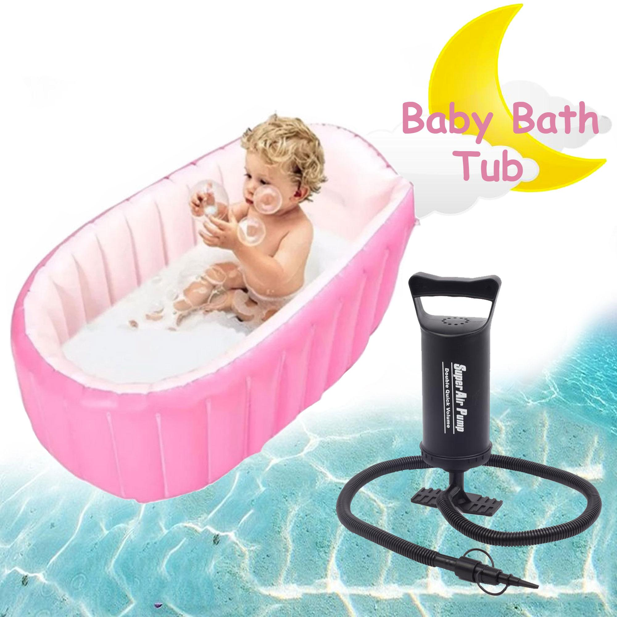 Yt-226a Inflatable Baby Bath Tub (pink) With Free Hs-112 Two-Way Super Air Pump (black) By Gonzalez General Merchandise.