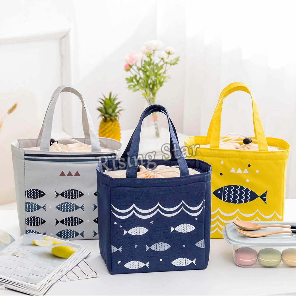 b52e1c380e Rising Star Cute Fish Waterproof Insulated Food Lunch Bag Picnic Bag With  Strap Drawstring