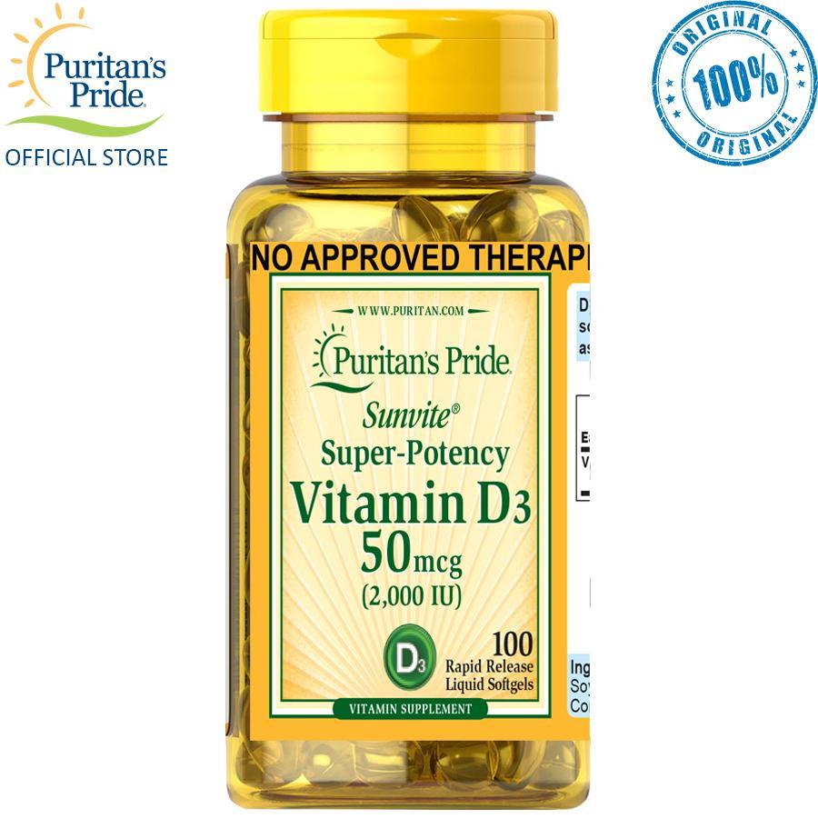 Puritan's Pride Vitamin D-3 2000iu 100 softgels
