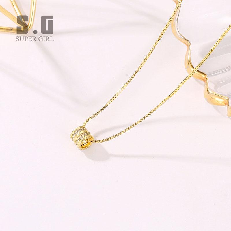 Cross Gift Gold Necklace Silver Necklace Crystal White Gold Gold Plated Jewelry Simple Retro Valentines Day Short Clavicle Chain Long Diamond Wild Pendant Female Fashion Necklace