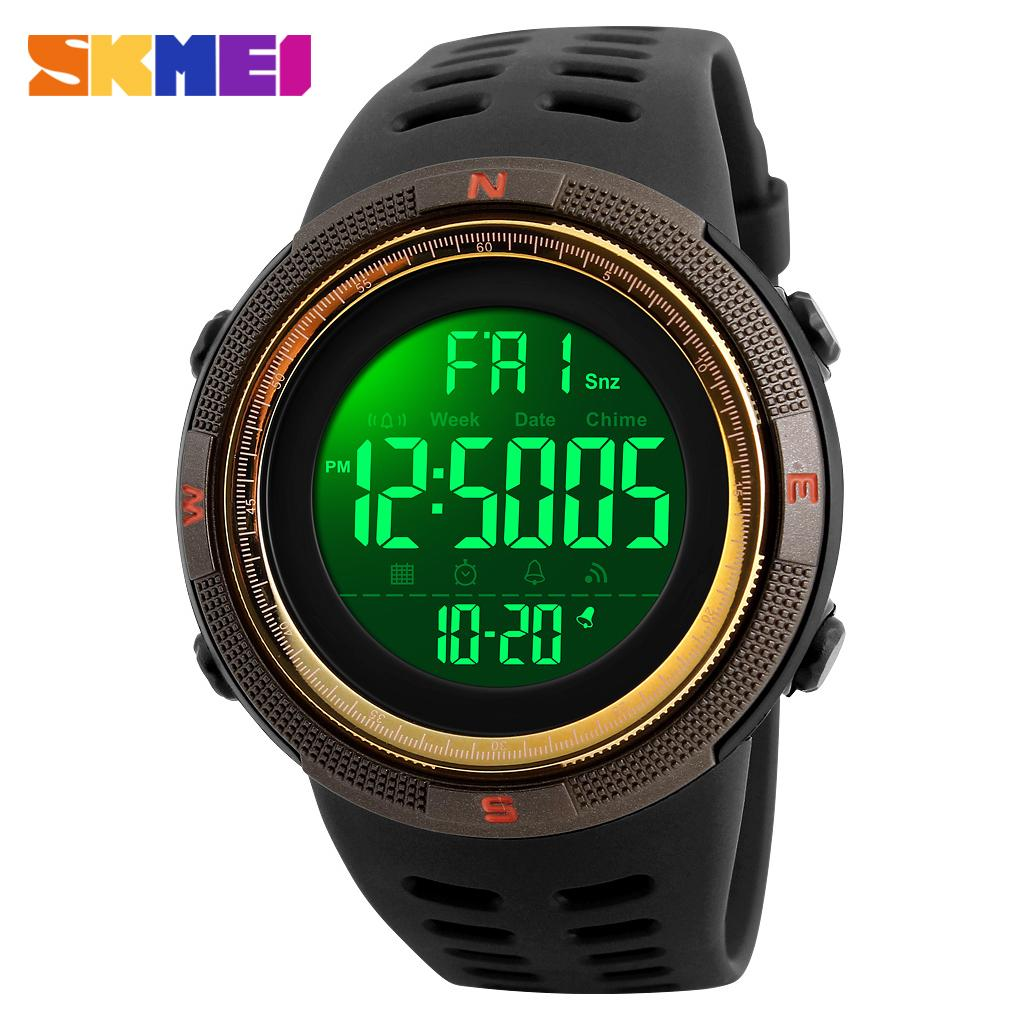 c456e152e SKMEI 1251 Fashion Outdoor Sports Watches 50M Waterproof Watches Countdown  Double Time Watch Alarm Chrono Digital
