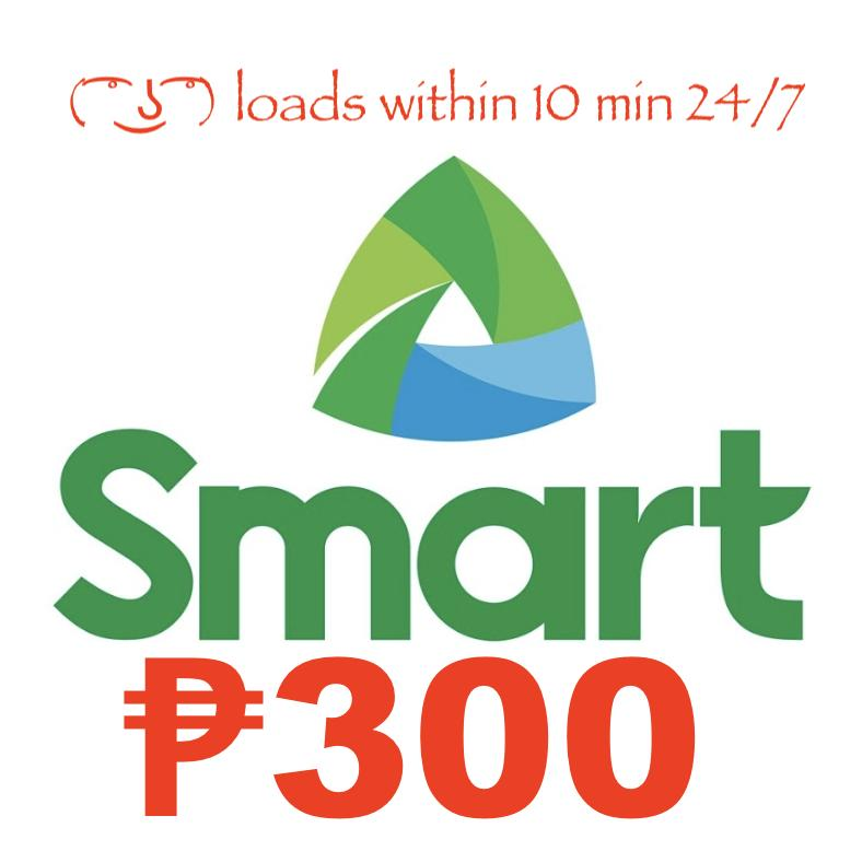 Smart / Tnt Regular Mobile Load 300 Pesos By Acts29.