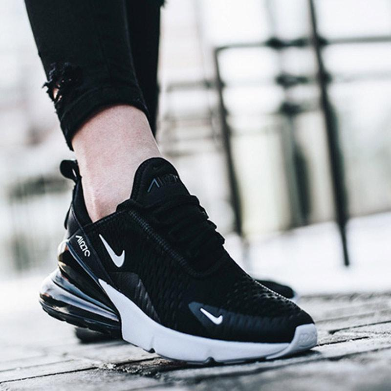 info for 83326 5d7e6 Most Popular Nike Air Max 270 Flyknit Black White Men Sportswear Running  Shoes