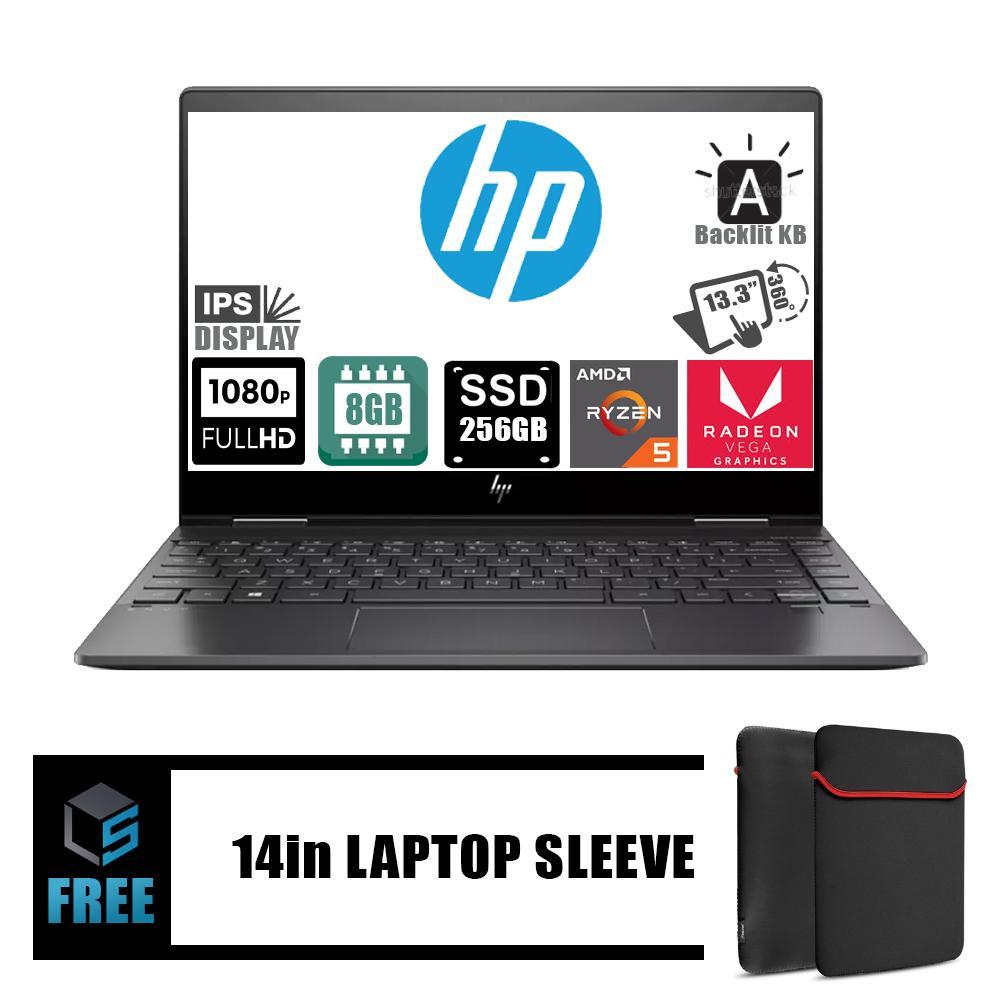HP Envy X360 AMD Quad Ryzen 5 8GB 256SSD RX Vega 8 13 3 FHD IPS Touch  windows 10 laptop computer sale