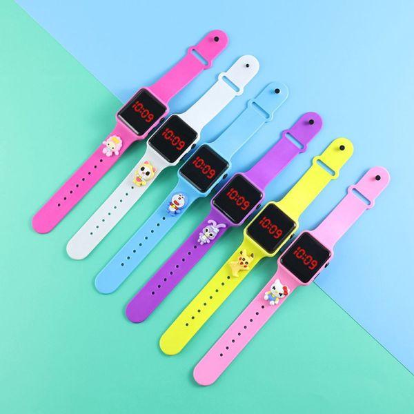 Nơi bán YE33040 Phụ nữ Không thấm nước Đầy màu sắc Thời trang Điện tử Xem trẻ em Đồng hồ thể thao Đồng hồ kỹ thuật số LED Đồng hồ đeo tay hoạt hình