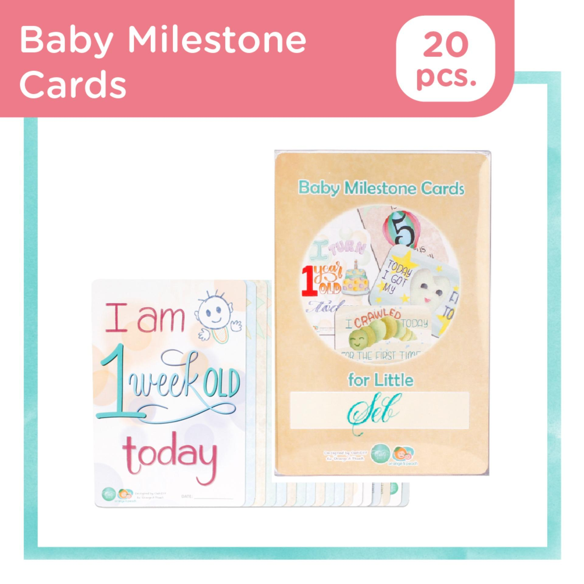 Gifts & Keepsakes 'Baby's 1st Year' Milestone Cards in a Gender Neutral Cotton Pouch A Unique and Adorable Keepsake for Parents to Capture Their Child's Precious Memories!