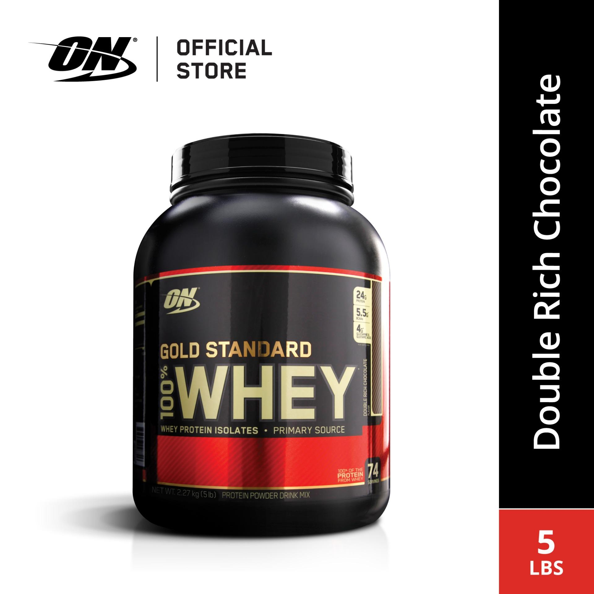 Optimum Nutrition Gold Standard Whey Protein 5 lbs - Double Rich Chocolate