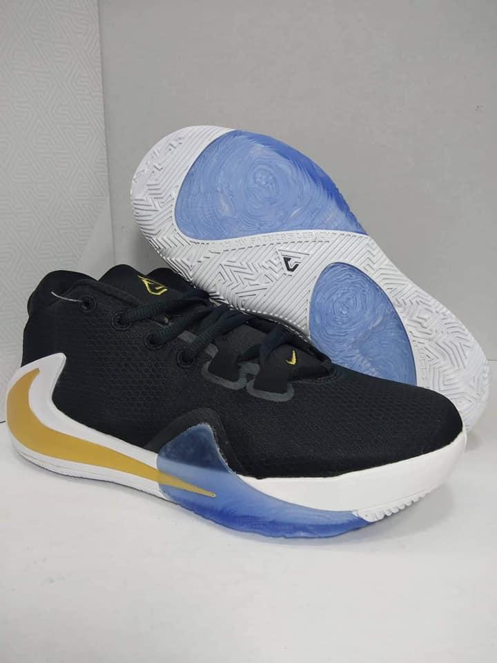 NIKE_ZOOM Aneh 1 Sepatu Basket Hitam/Kuning Produsen Peralatan Asli