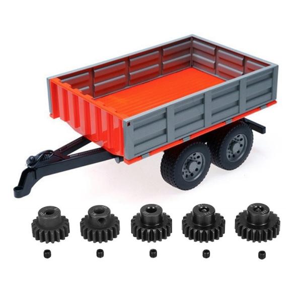 Phân phối 5 Pcs M1 5Mm 18T 19T 20T 21T 22T Shaft Steel Pinion Motor Gear Combot & 1 Pcs RC Truck Dump
