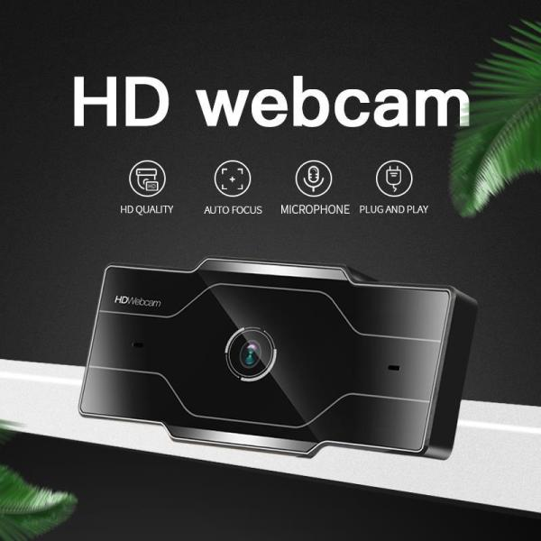 2K 1080P 720P 480P HD Webcam With Mic Rotatable and Adjustable 90 ° Super Wide-angle Range Desktop Web Camera Compatible With Mainstream Systems And Various Tvs