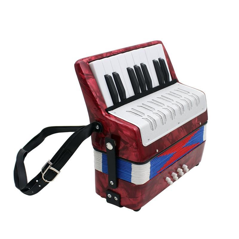17 Key Professional Mini Accordion Educational Musical Instrument for Both Kids Adult Red Malaysia