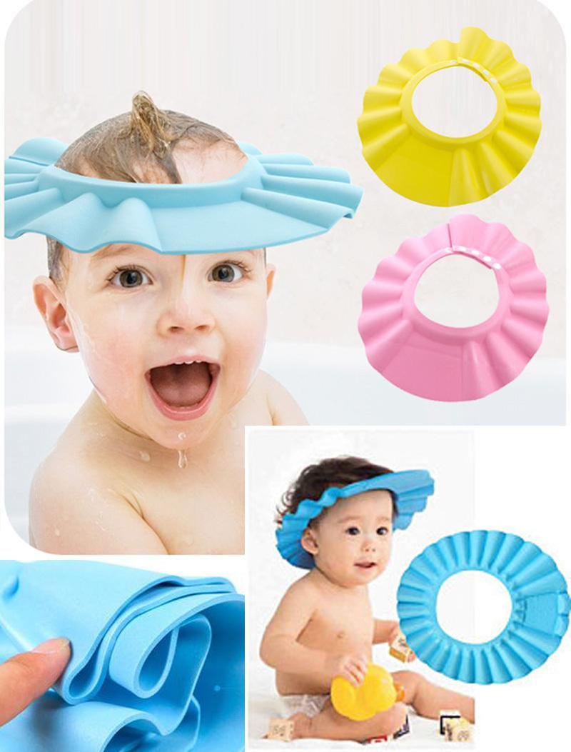 Khs 1pc Soft Baby Children Shampoo Bath Shower Cap Kids Bathing Cap Bath Visor Adjustable Hat Wash Hair Shield Random Color Lazada Ph
