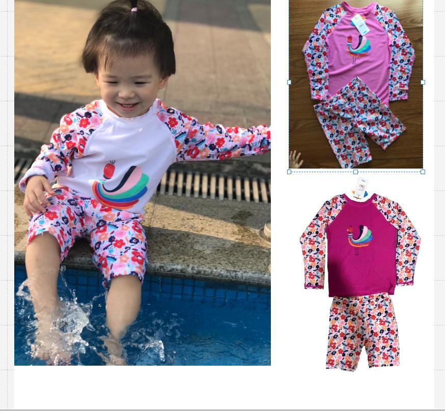 5eb66f7f01f34 Baby&Kids Korean Design Terno Rashguard And Shorts For Girls 1to12years old