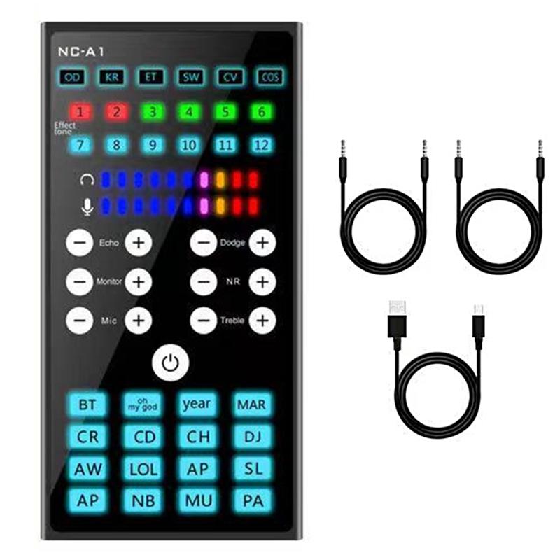 Bảng giá NCA1 Live Sound Card Mixer Audio Bluetooth Microphone Condenser KTV Karaoke Mobile Phone Computer Phong Vũ