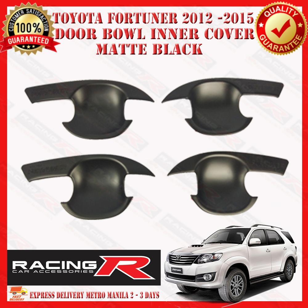 Toyota Fortuner 2012 - 2015 Door Bowl Cover Matte Black