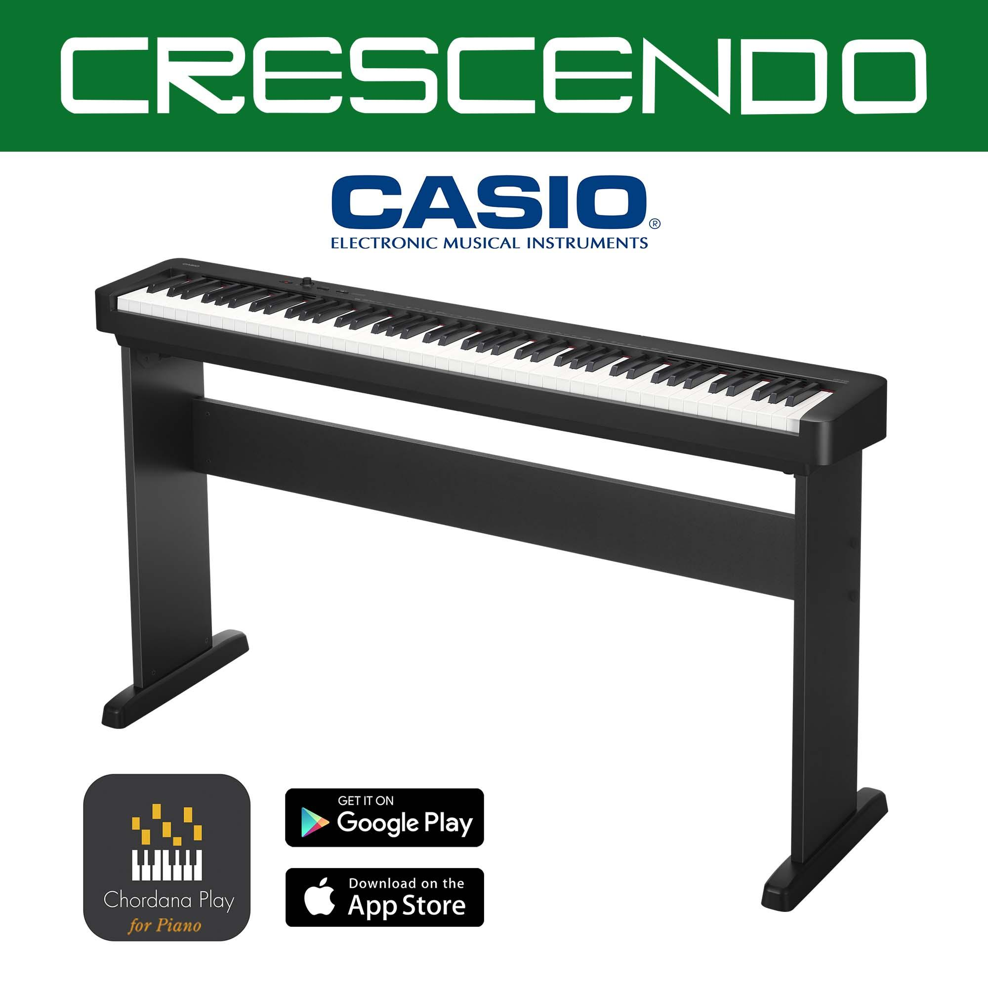 Casio CDP-S100 88 Weighted Keys Slim Digital Piano (Black) with Free  Original Casio CS-46 Stand
